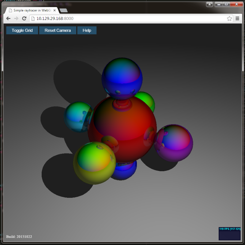 WebGL ray tracing