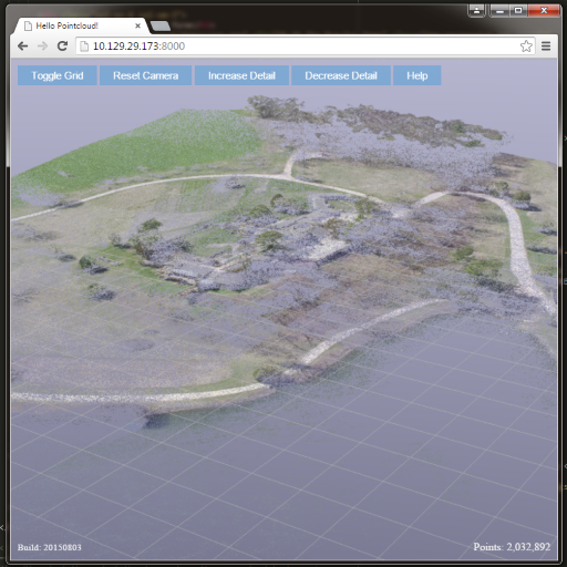 Point cloud of Taliesin in a browser